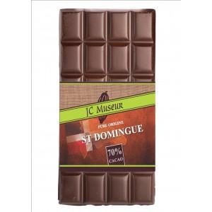 Tablette chocolat noir Pur St Domingue 70% cacao