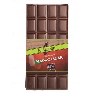 Tablette chocolat noir Pur Madagascar 65% cacao