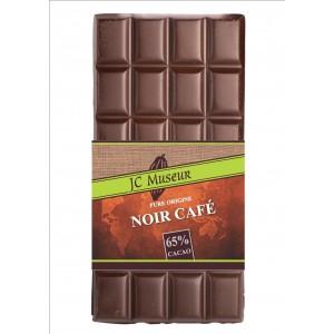 Tablette chocolat noir café 65% cacao