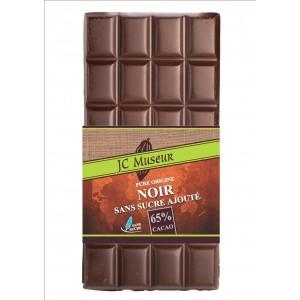Tablette chocolat noir sans sucre ajouté 65% cacao