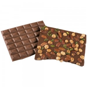 Chocolat Lait Fruits Secs par 100 grs