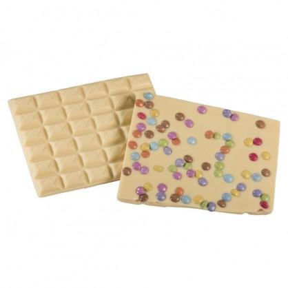 Chocolat Blanc smarties  par 100 grs
