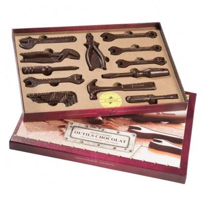 Boite à outils 12 pièces chocolat Noir