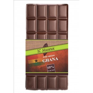 Tablette chocolat noir Pur Ghana 68% cacao