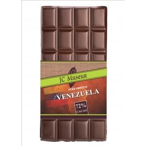 Tablette chocolat noir Pur Vénezuela 72% cacao