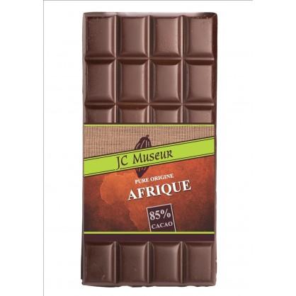 Tablette chocolat noir Origine Afrique 85% cacao