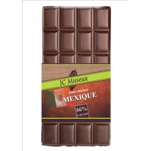 Tablette chocolat noir origine Mexique 66% cacao