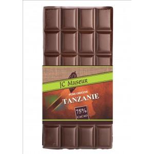 Tablette chocolat noir Pur Tanzanie 75% cacao
