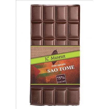 Tablette chocolat noir Pur Sao Tomé 75% cacao