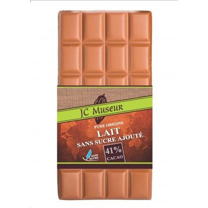 Tablette chocolat lait sans sucre ajouté